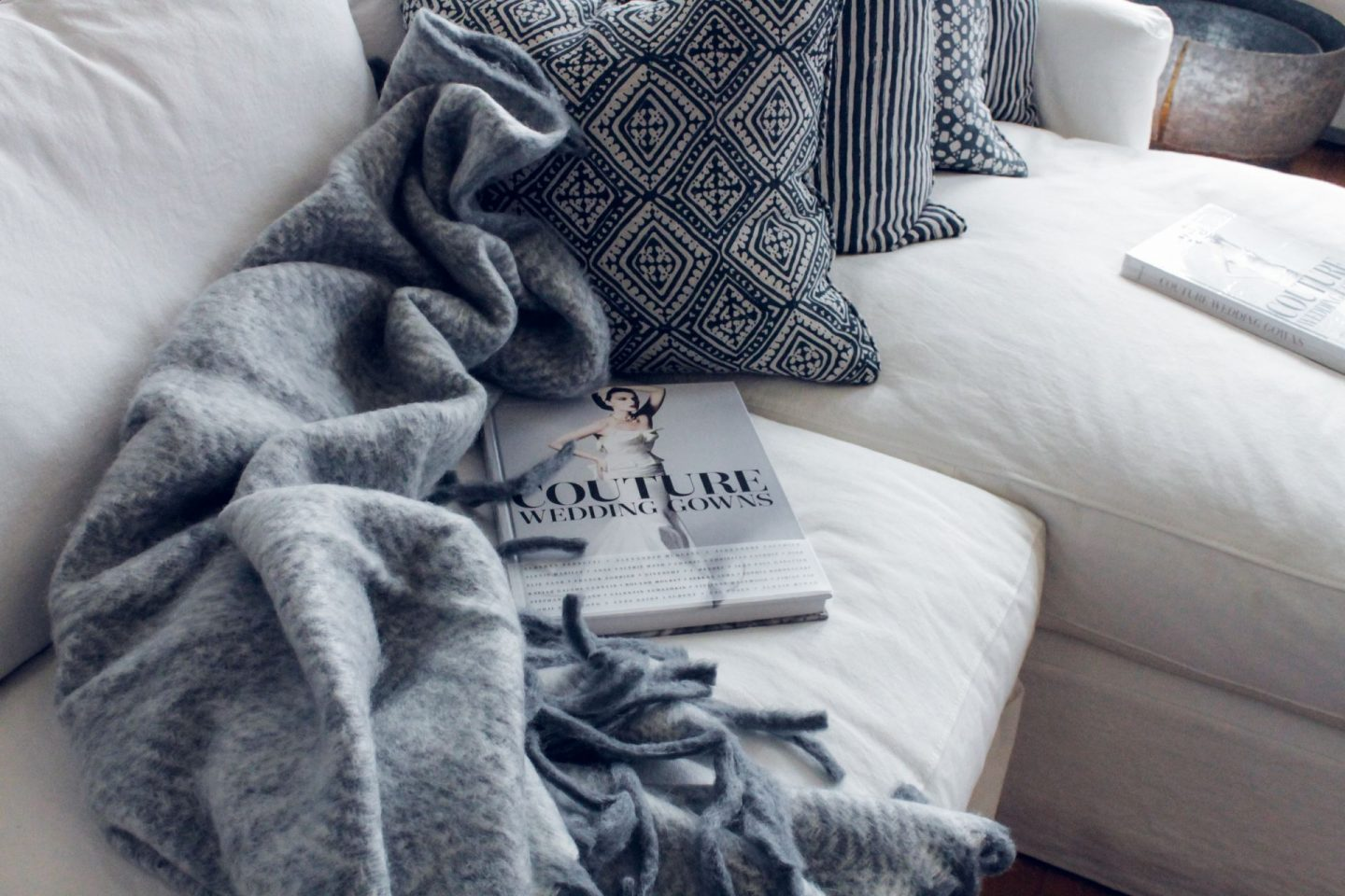 getting cosy at home